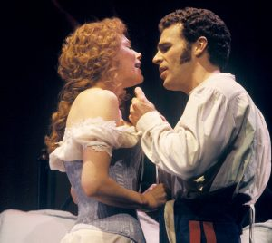 Marin Mazzie and Jere Shea in the original Broadway production of Passion. Photo by Joan Marcus.